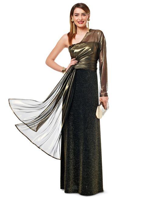 Сукня-бюстьє і накидка з одним рукавом