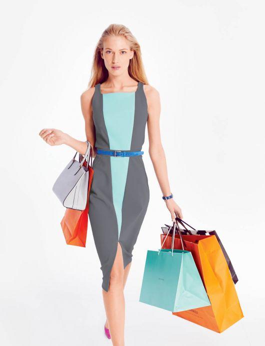 Сукня-футляр зі вставками