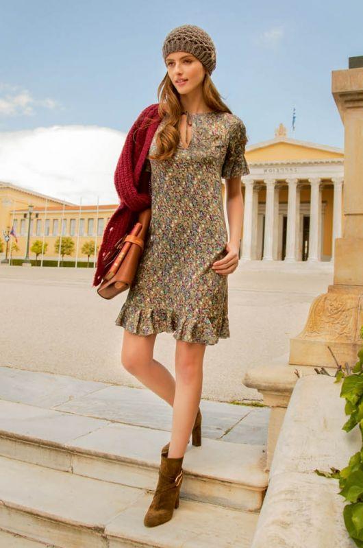 Сукня приталеного силуету з воланами