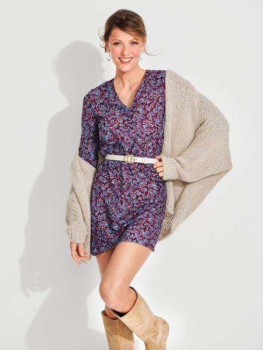 Платье простого кроя в стиле бохо