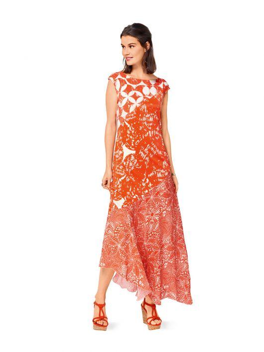Сукня з асиметричною лінією низу