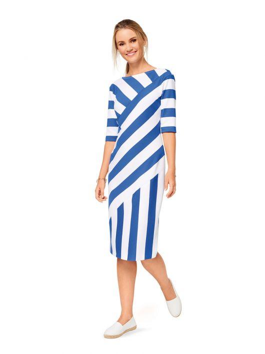Сукня трикотажна в широку смужку