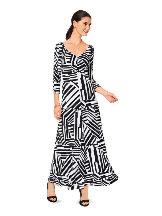 Сукня максі трикотажна розкльошеного силуету