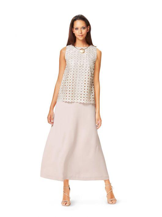 Сукня максі розкльошеного силуету з мереживним топом