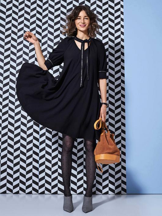 Сукня А-силуету з пишними рукавами реглан