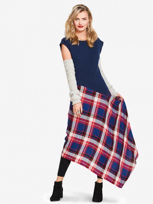 Сукня трикотажна з асиметричною спідницею