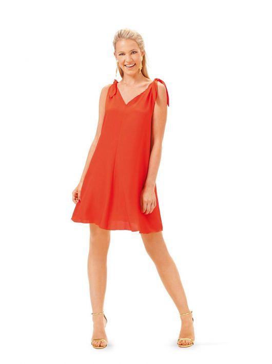 Сукня міні шовкова із зав'язками на плечах