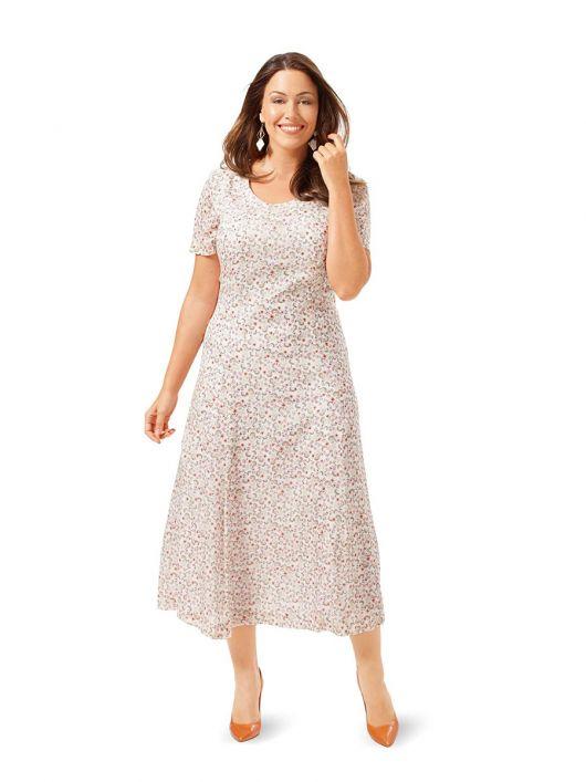 Сукня міді із розкльошеною спідницею