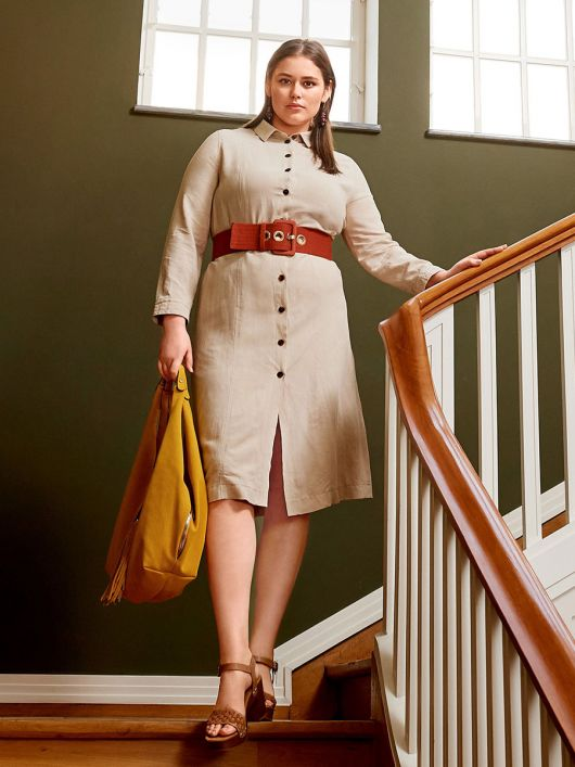 Сукня-сорочка з рельєфними швами