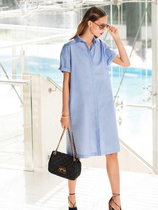 Сукня-сорочка із потайною застібкою