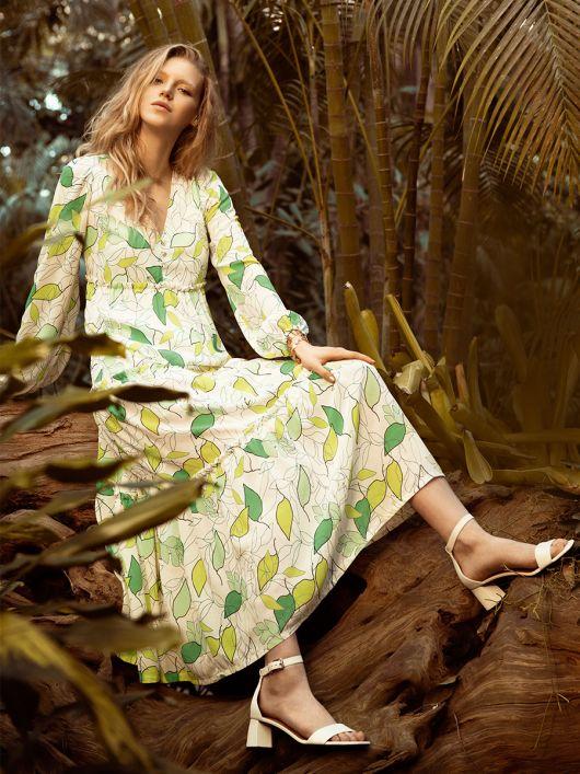 Сукня-максі із багатоярусною спідницею