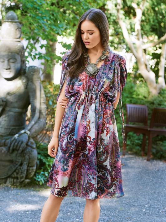 Сукня-туніка з кулісками на плечах