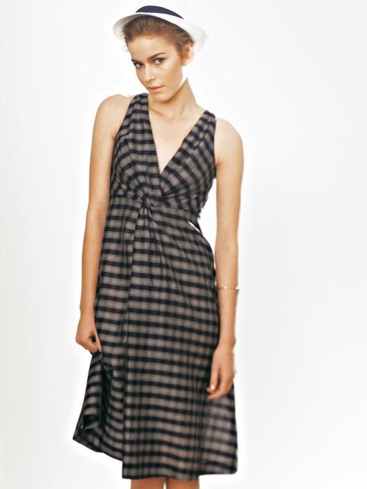 Сукня з драпіровкою-вузлом