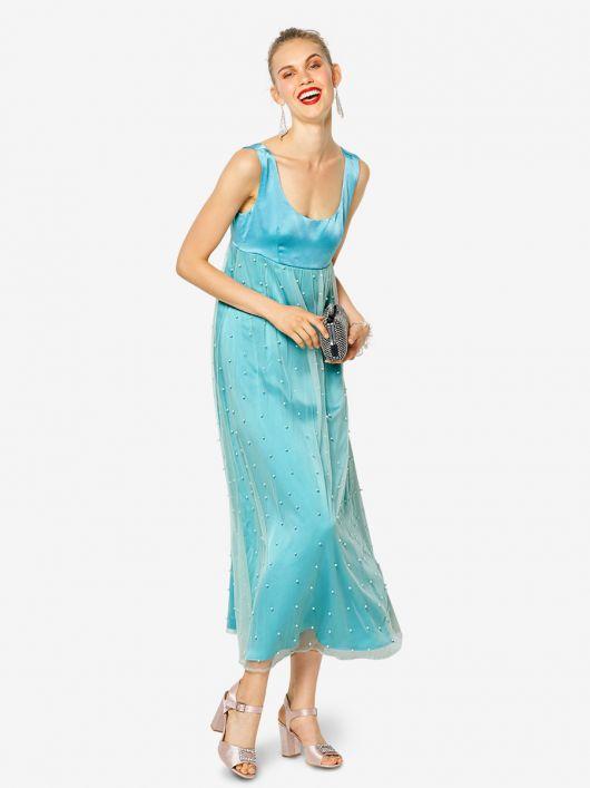 Сукня двошарова силуету ампір