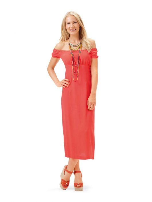 Сукня силуету ампір із вирізом кармен