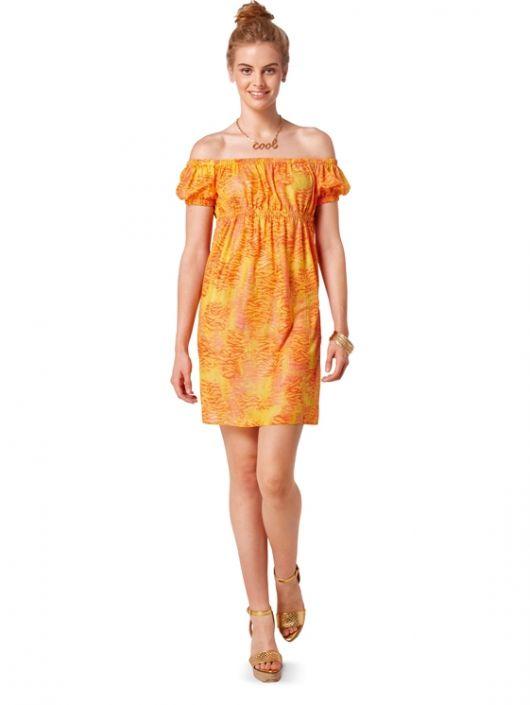 Міні-сукня силуету ампір з рукавами-ліхтариками