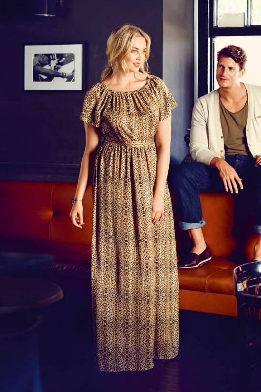 Максі-сукня з рукавами реглан