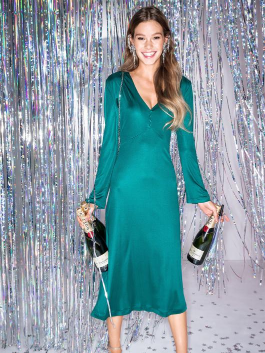 Сукня трикотажна з фігурним ліфом