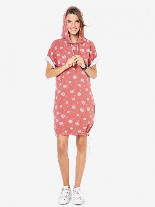 Сукня трикотажна з капюшоном