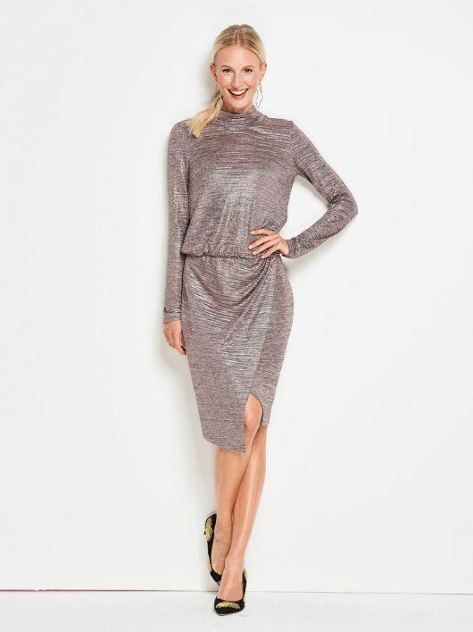 Сукня відрізна трикотажна з довгими рукавами