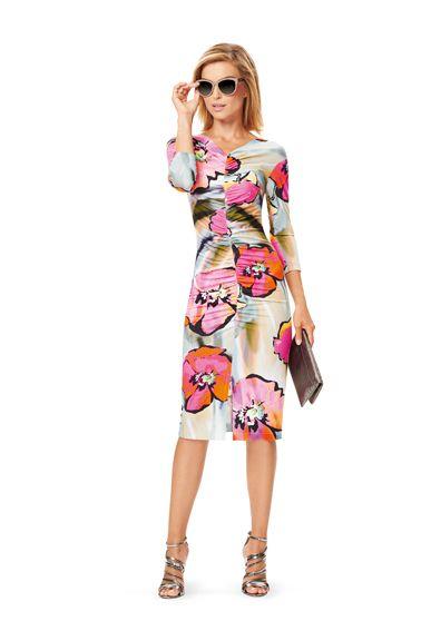 Сукня трикотажна з драпіровками і V-подібними вирізами