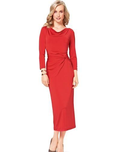 Сукня трикотажна з вирізом-гойдалки і драпіровками