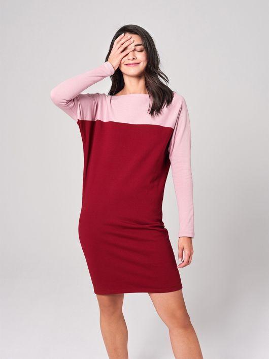 Сукня трикотажна в стилі колор-блокінг