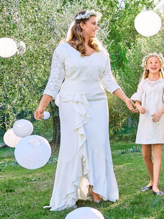 Сукня з воланами для нареченої
