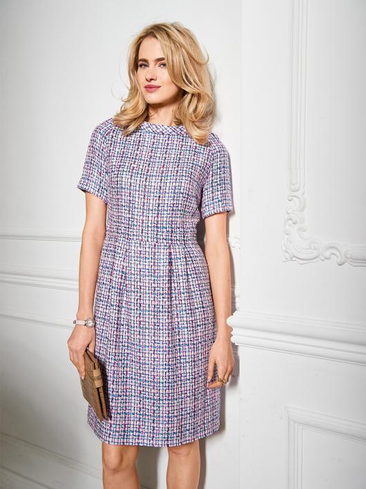 Сукня твідова з рукавами-реглан
