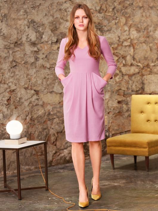 Сукня відрізна з відлітними кишенями