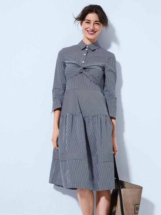 Сукня сорочкового крою із застібкою поло