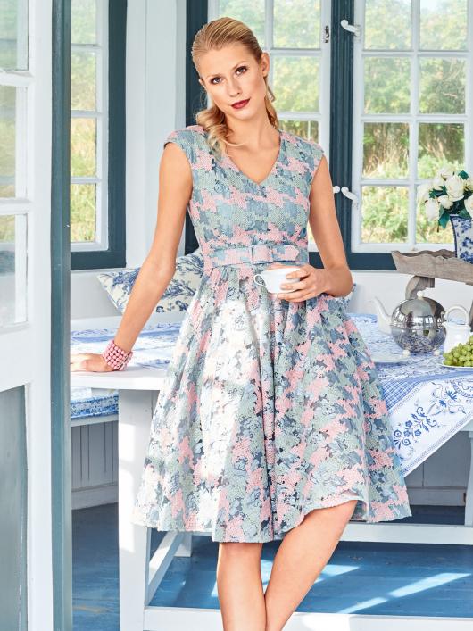 Сукня відрізна із спідницею-сонце