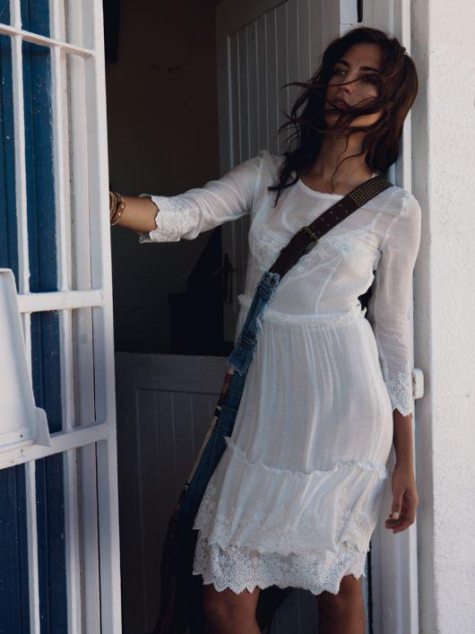 Сукня лляна з оборками