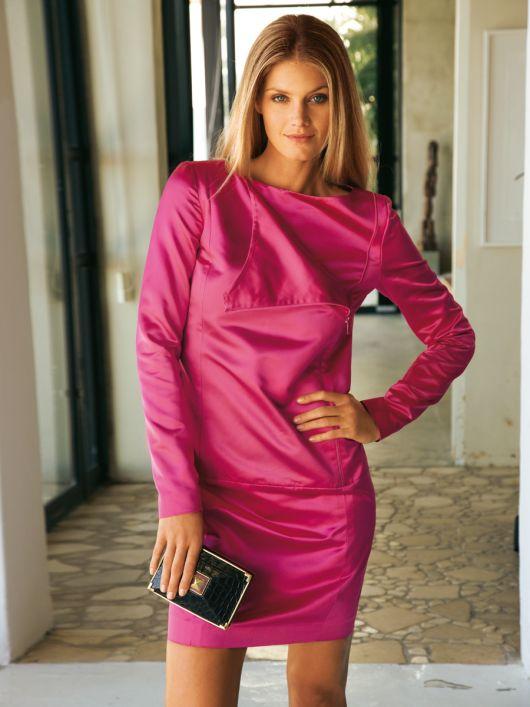 Сукня з довгими рукавами із застібкою на блискавку