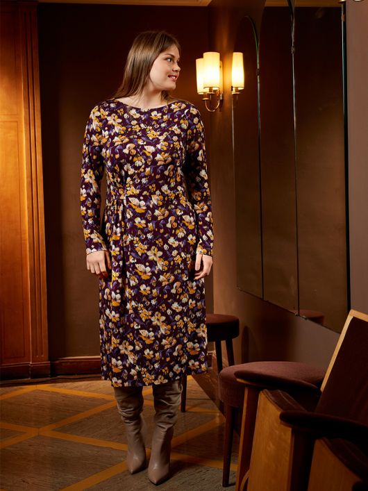 Платье отрезное трикотажное