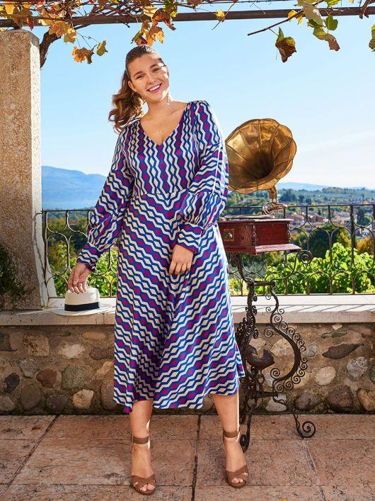 Сукня відрізна з пишними рукавами