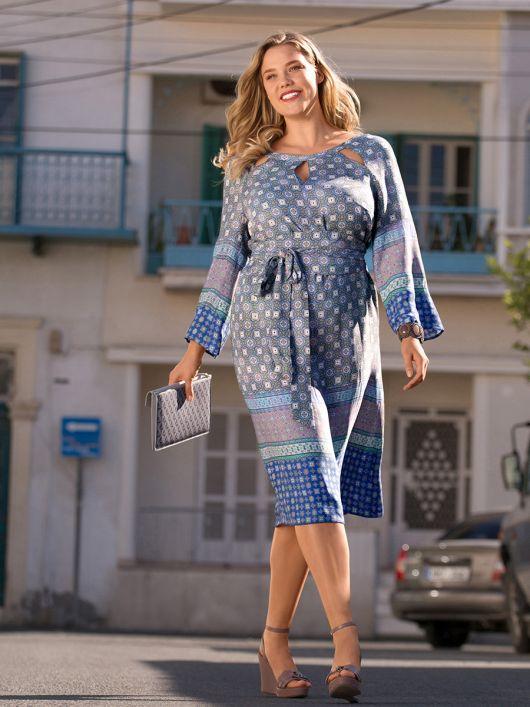 Сукня відрізна з поясом обі