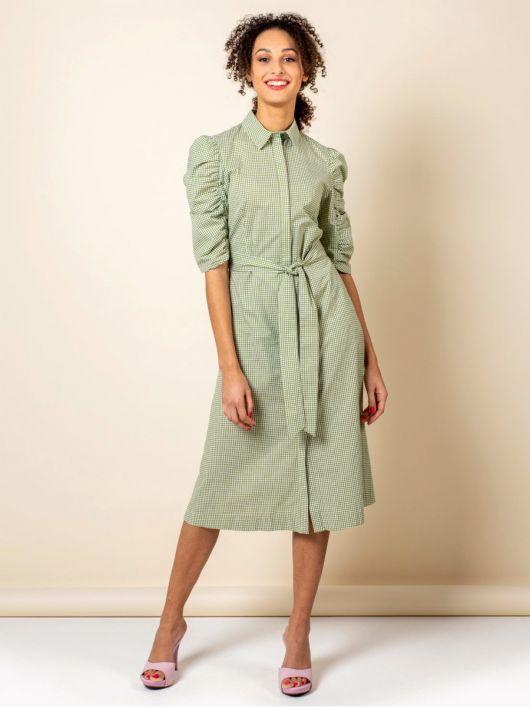 Сукня-сорочка з пишними рукавами