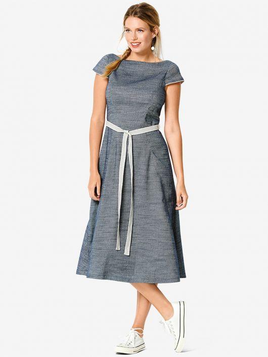 Сукня джинсова зі спідницею-дзвін