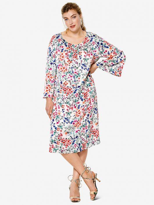Сукня відрізна з розкльошеними рукавами