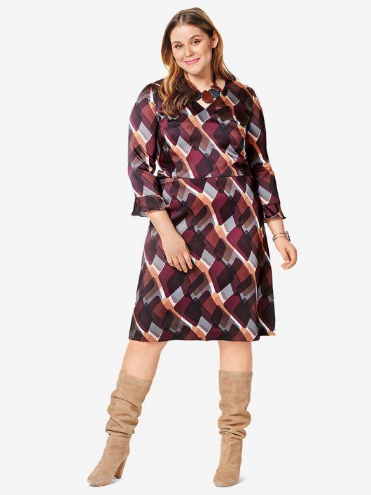 Сукня відрізна з воланами на рукавах