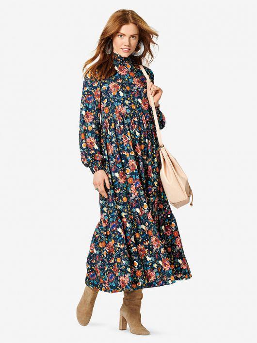 Сукня міді в стилі бохо