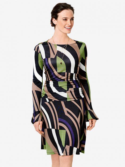 Сукня відрізна з драпірованою кокеткою