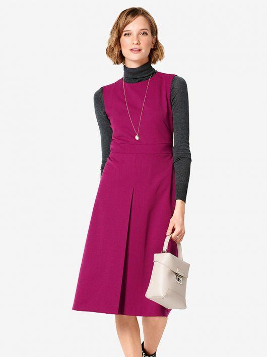 Сукня відрізна із зустрічною складкою на спідниці