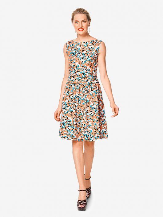 Сукня відрізна зі вшитим поясом