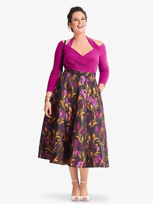 Сукня комбінована з двох видів тканин