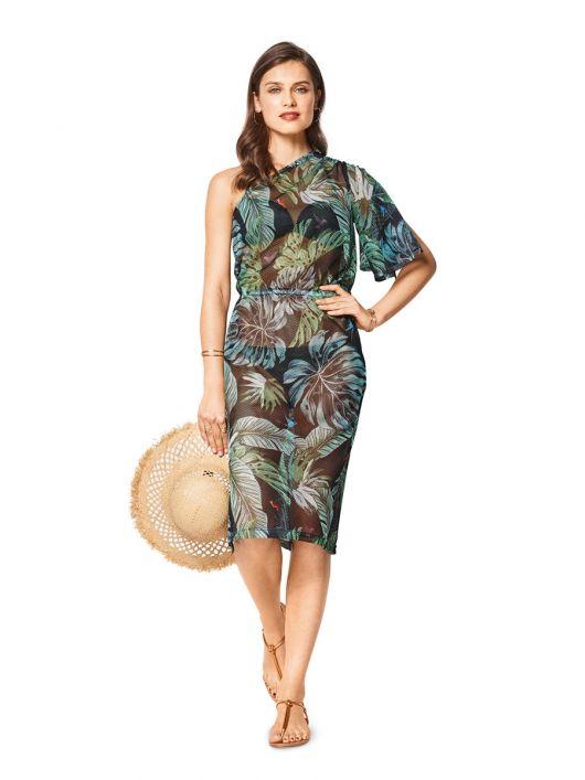 Сукня пляжна з сітчастої тканини