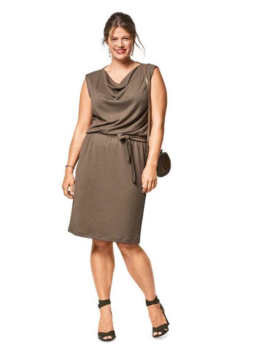 Сукня трикотажна з вирізом «гойдалки»