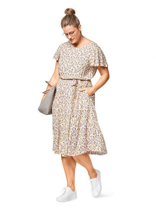 Сукня з рукавами-крильцями і широкою спідницею