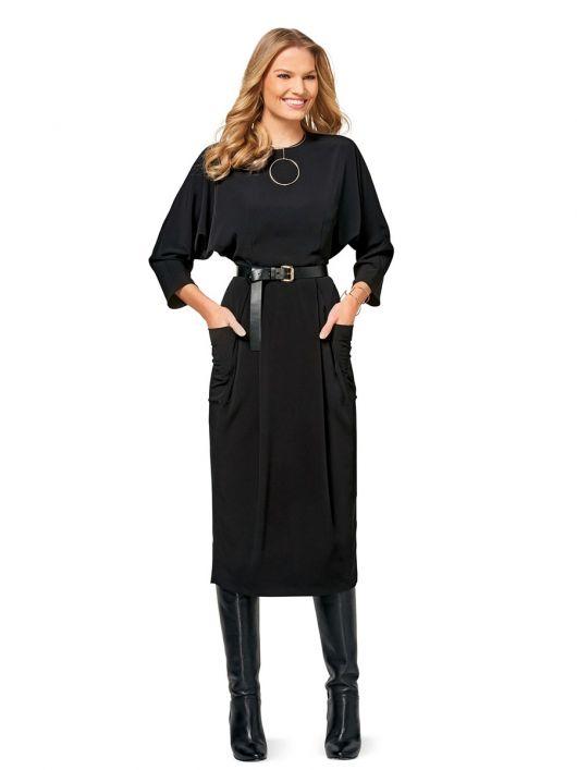 Сукня із суцільнокроєними рукавами «летюча миша»
